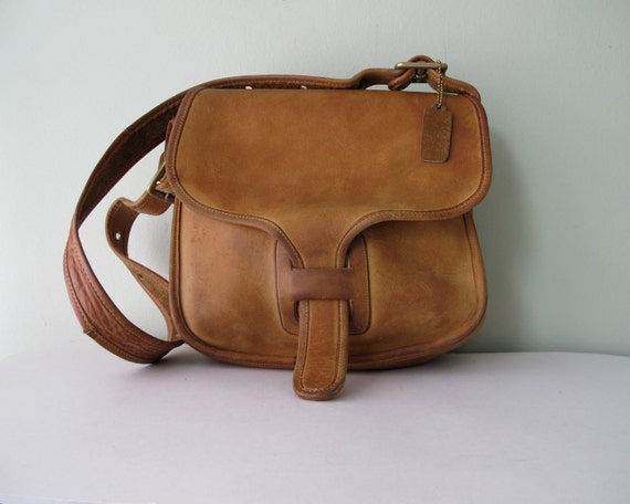 COACH Saddle Bag RARE  // 70s Bonnie Cashin NYC Courier Messenger Bag