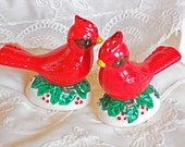 Red Bird Salt and Pepper Shakers Vintage