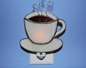Cup of Joe Stained Glass Coffee Cup Night Light Mother's Day
