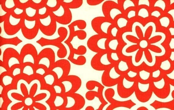 Amy Butler-Lotus Collection-Wallflowers in Cherry -One Yard