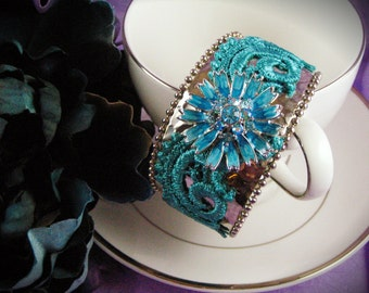 Caribbean Blue Cuff Bracelet