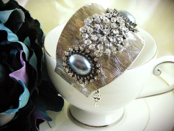 Starlight Silver Cuff Bracelet