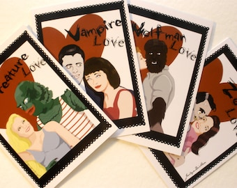 Monster Love Greeting Cards