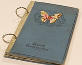 Altered vintage mini album with butterfly accent
