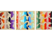 Rainbow Butterfly Panels by Abstract Beast - made to order