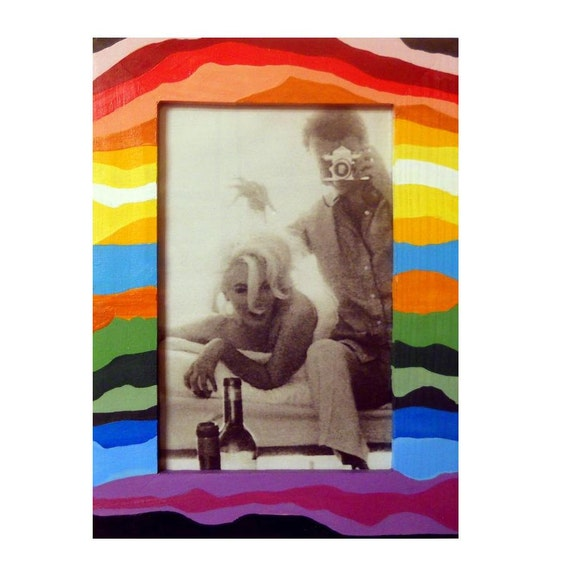 """Rainbow Stripes Picture Frame 4""""x6"""" by Precious Beast"""