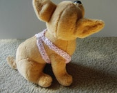 XXS  Easy Fit Dog Harness in Soft Pink with Rhinestones