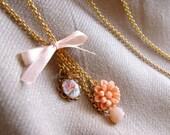 Floral Peach Necklace