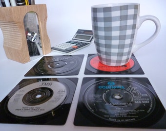 RECORD Coasters Handmade From Vintage Vinyl Recycled Records 60's 70's 80's