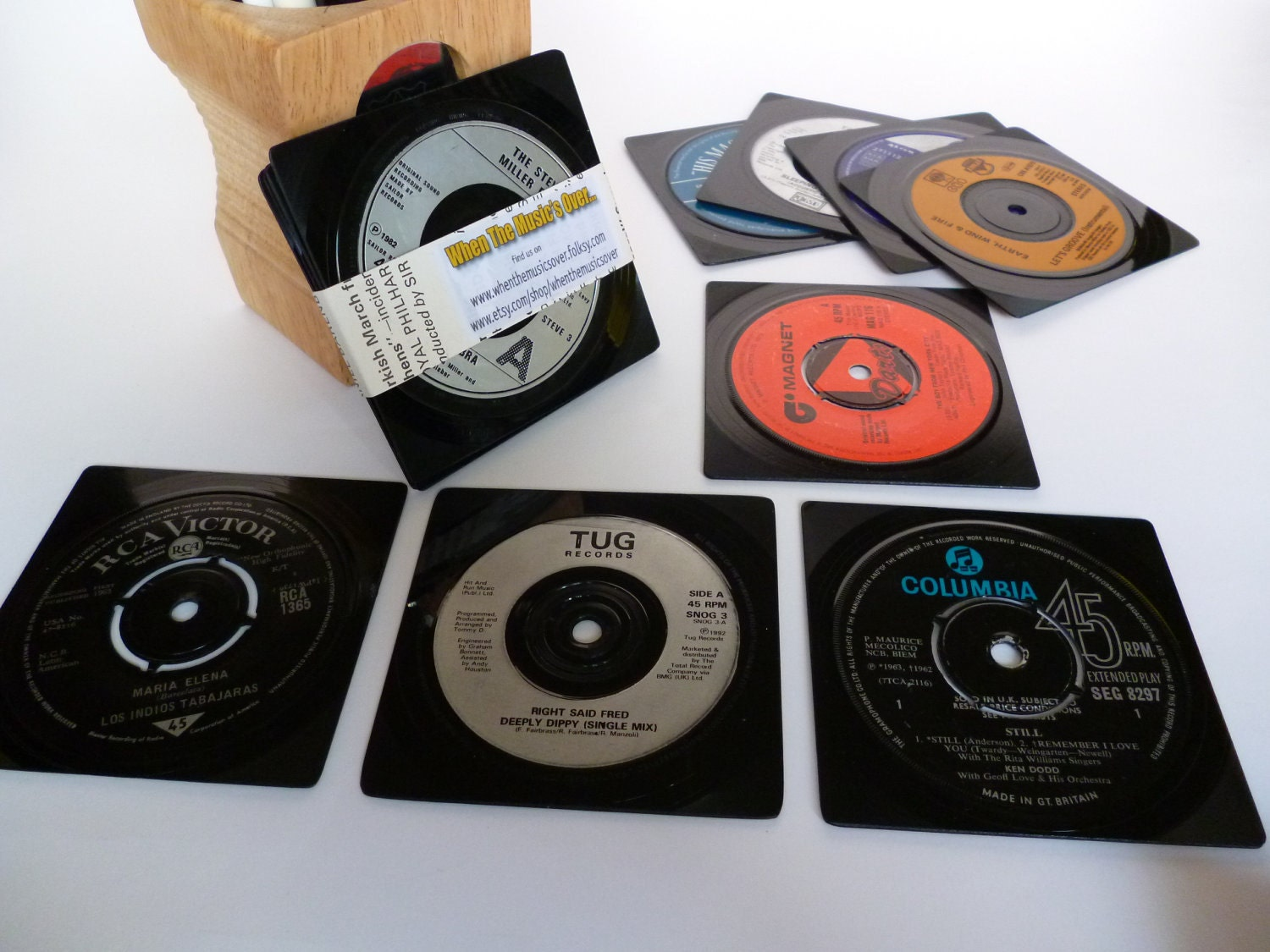 Record Coasters Retro Beer Mats Music By Whenthemusicsover