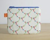 Coin purse / zippered pouch - bunting