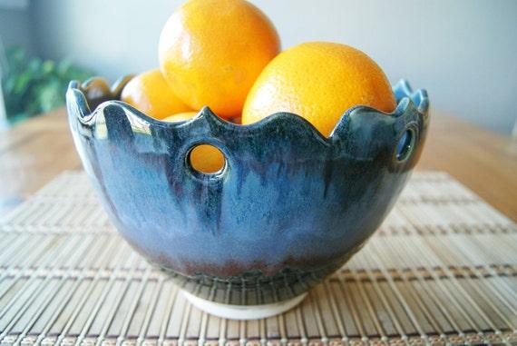 Pottery Serving Bowl, Salad Bowl, Pasta Bowl, Handmade Wheel-Thrown Stoneware by RiverStone Pottery