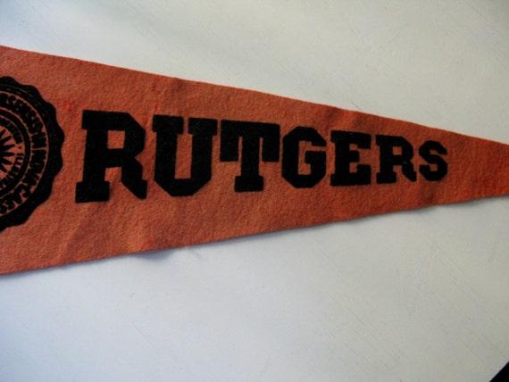 Vintage Rutgers Felt Pennant