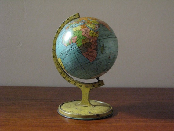 Vintage J Chein Tin Globe