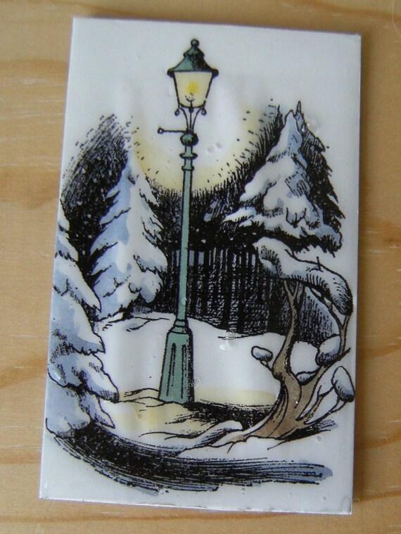 Narnia lamp post magnet