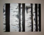 Birch. Modern original painting.