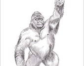 "Gorila print. 5""x7"""