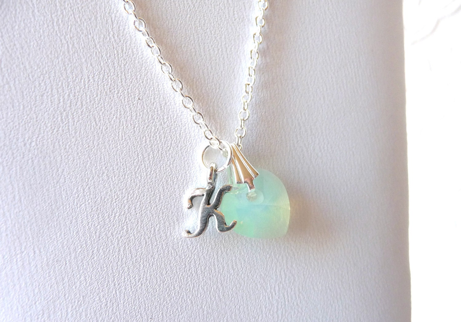 Girls Jewelry Necklace Personalized Initial Charm Necklace