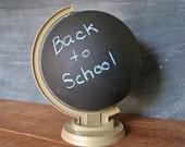 Repurposed Chalkboard Globe