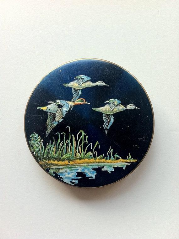 Stratton Compact Mirror - Flying Ducks