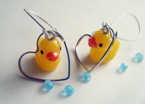 Versatile Rubber Duck Earrings