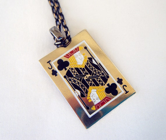 Black Jack Vintage Playing Card Necklace