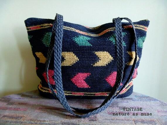 SALE Vintage- Woven Beach Bag