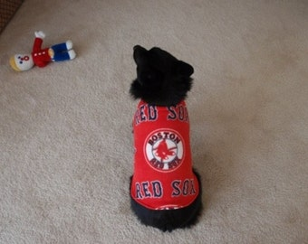 Boston Red Sox Dog Coat