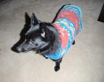 Knit Look Fleece Let  It Snow Dog Coat