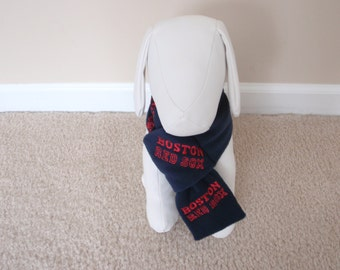 Boston Red Sox Dog Scarf