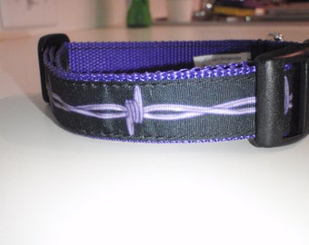 Barbed Wire on Purple Polypropylene Dog Collar