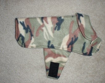 Camo Fleece Dog Coat