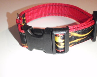 Hot Rod Flames Dog Collar