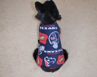 The Texans Fleece Dog Coat