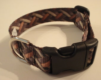 Weave Patterned Dog Collar