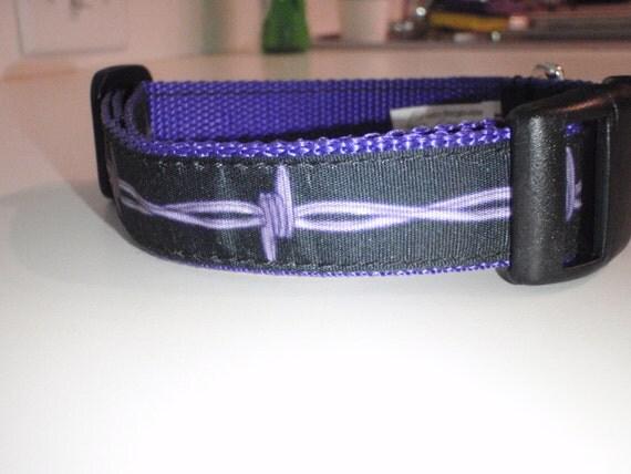 Barbed Wire on Purple Polypropylene Dog Collar
