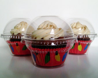 100 Clear Cupcake Favor Boxes - Wedding Favor