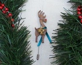 Decorated Rudy  5 -Rudolph the Red Nosed Reindeer wooden pin