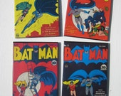 Vintage Comic Book Cover Coasters - Batman - Great for Man Cave or Geek Decor
