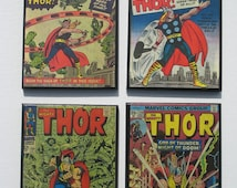 Vintage Comic Book Cover Coasters - Thor - Great for Man Cave or Geek Decor