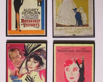 Audrey Hepburn Coasters - Great for the Audrey Hepburn Fans
