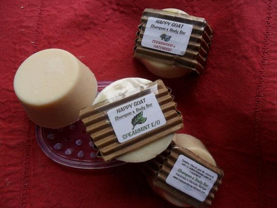 SPEARMINT E/O-Shampoo/Body Bar-goat milk soap