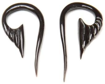 Horn Carved Earrings  12ga (1.5mm), 10ga (2mm), 8ga (3mm) ON SALE