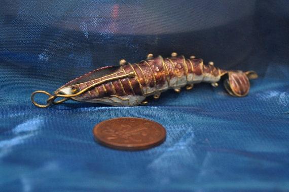 enamel articulated shrimp fish RESERVED