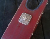 Hand Painted Boot Jack with western silver studded sides
