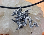 Dragon Love Pendant in Sterling Silver