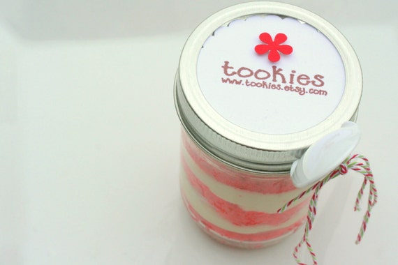 Cutie Candy Cane Peppermint Buttercreme Limited Edition Jar Cakes - 4 pack