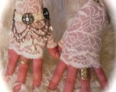 Romantic shabby chic lace gloves cuffs