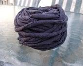 Black t shirt Yarn - 39 yds - 4 wpi - 100 % cotton - Bulky Weight