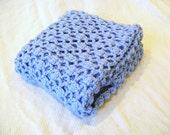 Blue Baby Blanket, Crochet Baby Blanket, Boys Baby Blanket,Recieving Blanket, Baby Shower gift, Baby Boy, New Baby, Childs Blanket